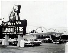 McDonald's Restaurant Large Photo 11X14 1950's Des Plaines Illinois Speedee Kroc