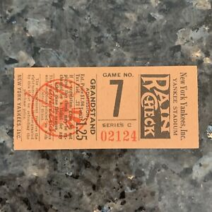 VINTAGE 1951 NEW YORK YANKEES STADIUM TICKET STUB GAME NO. 7 SERIES C RAIN CHECK