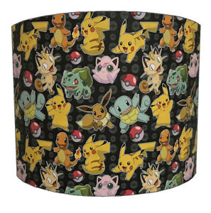 Pokemon Lampshades Ideal To Match Pokemon Duvets, Pokemon Wall Decals & Stickers
