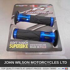 Honda CBR900RR 929 954 Fireblade Blue Aluminium Handlebar Soft Grips