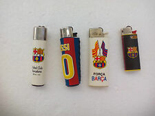 4 MECHERO Futbol Club BARCELONA. Football. ENCENDEDOR LIGHTER  BRIQUET. Clipper.