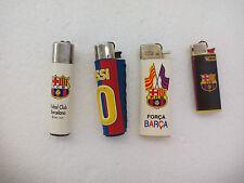 4 MECHERO Futbol Club BARCELONA. Football. ENCENDEDOR LIGHTER  BRIQUET. Clipper.