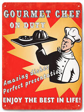 CHEF cook METAL SIGN culinary VINTAGE style funny restaurant diner wall deco 647