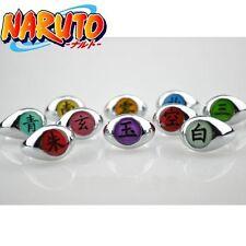 Naruto Set 10x Asatsuki Full Rings Sasori Itachi Hidan Deidara Pein Cosplay Prop