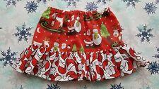 NUOVO Ragazze Natale Frilly Gonna. età 2-3. Babbo Natale. Rudolph. Natale ponticelli.