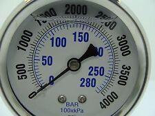 """PRO-202L-254Q PRO 2.5"""" Glycerin Filled SS Gauge 1/4"""" NPT Back Mount 0/4000 psi"""