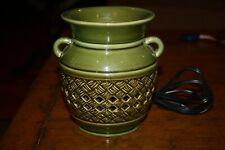 PARTYLITE green basket weave vintage jug candle tart warmer electric