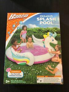 Pegasus Unicorn Banzai Inflatable Swimming Kiddie Splash Pool