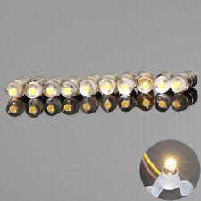 10PCS  Warm White LED Screw Bulb E5 E5.5 12V-14V Spur H0/TT/N Scale NEW