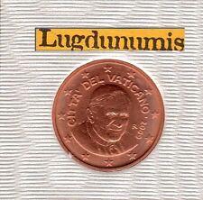 Vatican 2009 - 2 Centimes D'Euro - 91 400 exemplaires Provenant du BU RARE