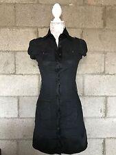 BEBE Black BUTTON UP DRESS SIZE XS (1G)