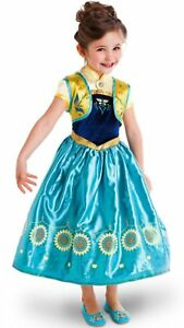 Robe Tournesol Déguisement Costume Reine Neiges Frozen Anna Fille Princesse Noel
