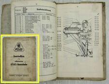 Atlas 320 Bauernlader vollhydraulisch Ersatzteilliste Ersatzteilkatalog 11/1961