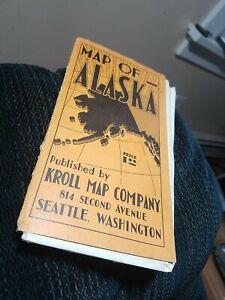 ALASKA - Large Folded Map - Vintage  - Kroll Map Co.