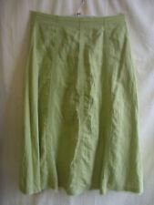 Zara Knee Length Polyester Patternless Skirts for Women