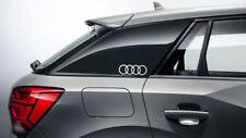 Original Audi Q2 Dekorfolie Audi Ringe, florettsilber 81B064317  Z7G