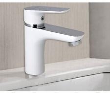 Rubinetto lavabo bianco con finitura cromata miscelatore monoforo bagno 52572A