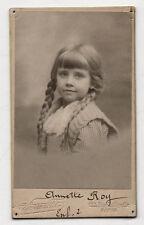 CDV - PHOTO - Enfant Fille Tresses - Pierre PETIT à Paris - Vers 1900 - Vintage