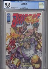 Brigade #0  CGC 9.8 1993 Image Comic:  Deathmate Red Backside NEW Frame