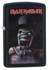 "Zippo Lighter ""Iron Maiden  - Skull in Top Hat"" No 29576 - new on black matte"