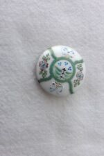A CHINESE PAINTED CHINA BUTTON 2.5cms (283)