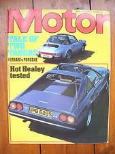 'Motor' magazine, vol. 154, no. 3959, August 23, 1978 - Ferrari v Porsche
