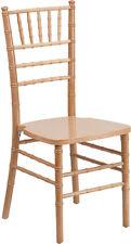 Natural Wood Chiavari Chair With Soft Seat Cushion Stacking Wedding Chair