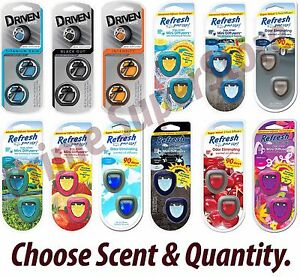 Driven/Refresh Your Car AC Vent Air Freshener Scent Oil Diffuser Eliminates Odor