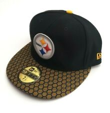 New Era Pittsburgh Steelers NFL 5950 OF Sideline Fitted Hat Black/Gold Size 7.5