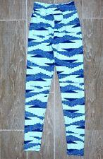 Lularoe Leggings Tween Patterned Blue and Light Blue One Size