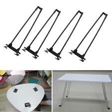 """4 Pcs 14"""" Heavy Duty Hairpin Laptop Desk Foldable Legs Folding Coffee Table Legs"""