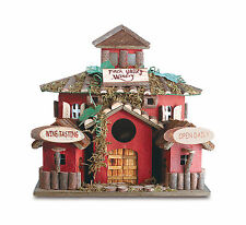 Birdhouse: Finch Valley Winery Wood Birdhouse New
