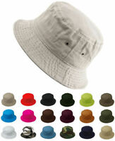 Cotton Bucket Hat Fishing Hunting Summer Travel Fisherman Sun Safari Cap