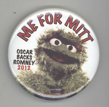 2012 MITT ROMNEY Oscar the Grouch Political PINBACK Pin BUTTON Badge PRESIDENT