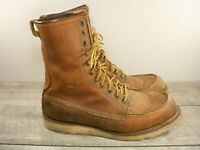 Red Wing Heritage 877 Mens Work Hunting Motorcycle Leather Moc Toe Boots Size 10