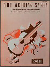 1948 THE WEDDING SAMBA Sheet Music ELLSTEIN SMALL LIEBOWITZ