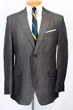 Banana Republic Modern GARY PINSTRIPE LINEN SHARKSKIN Blazer 42 R Jacket Dual