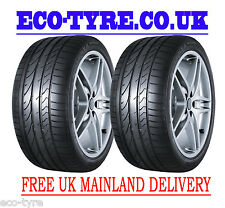 2X Tyres 255 30 R19 91Y Bridgestone Potenza Re050A RFT Run Flat Tyre E B 72dB