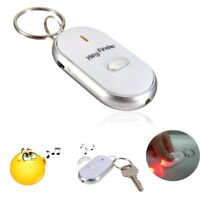 Sound Whistle Control White LED Key Finder Locator Find Lost Keychain Keys Chain