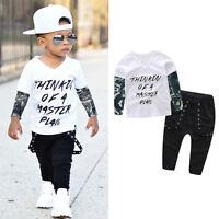Infant Newborn Baby Boys Suit T-shirt Tops+Pants Casual Outfits Clothes 2PCS AX