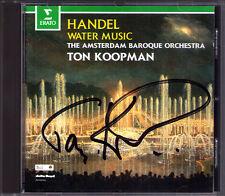 Ton KOOPMAN Signed HANDEL Water Music Wassermusik CD Amsterdam Baroque Orchestra