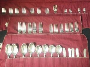 GORHAM 1895 Chantilly 36 Piece Sterling Silver Flatware Sets w/Mono *Some Gold