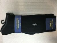 NEW 3 PAIRS POLO RALPH LAUREN MENS COMBED COTTON SOCKS SIZE 10-13 ANTIMICROBIAL