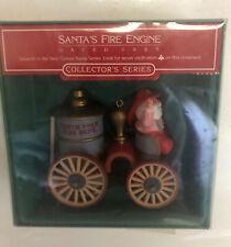 """Hallmark Collector's Series Here Comes Santa #7 Ornament """"Santa's Fire Engine�"""