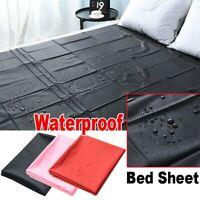 Waterproof Mattress Protector Bed Cover Sheet Bedroom Pure Color Twin Queen hot