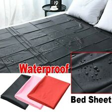 Waterproof Mattress Protector Bed Cover Sheet Bedroom Pure Color Twin Queen hot
