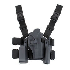 Tactical Right Drop Leg Thigh Pistol Mag Holster For GLOCK 17 19 22 Tarus M9 92F