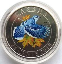 Canada 2010 Blue Jay 25 Cents Coin,BU