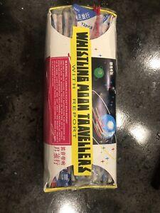 Vintage Label Firecracker Whistling Moon Travellers Label 144