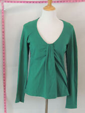 Hugo Boss Green Empire Waist Long Sleeve Blouse Top Sz L #3867 batch122
